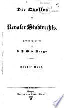 Die Quellen des Revaler Stadtrechts