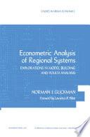 Econometric Analysis Of Regional Systems