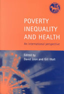Poverty  Inequality and Health