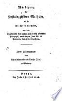 W Rdigung Der Pestalozzischen Methode Wie Sie Riederer Darstellt book