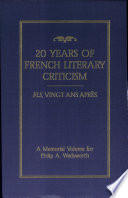 Twenty Years Of French Literary Criticism book
