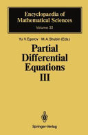 Partial Differential Equations Three