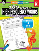 180 Days of High Frequency Words for Kindergarten  Practice  Assess  Diagnose  ePub 3