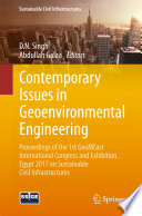 Contemporary Issues In Geoenvironmental Engineering book