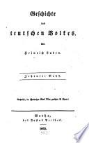 Geschichte des teutschen Volkes