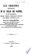 Les origines historiques de la ville de Vannes  etc