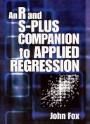 An R And S Plus Companion To Applied Regression