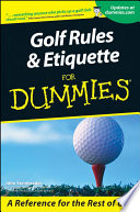 Golf Rules And Etiquette For Dummies : traps of the game filled...