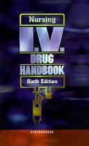 Nursing I V  Drug Handbook