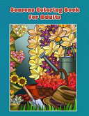 Seasons Coloring Book For Adults : themes included are beach vacation, picnics, spring flowers,...