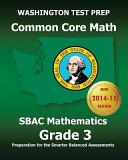 Washington Test Prep Common Core Math Sbac Mathematics Grade 3