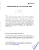 Quantitative Analyses of Crises