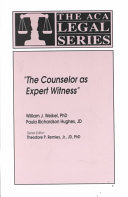 The Counselor as Expert Witness