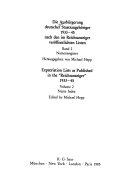 Die Ausbürgerung deutscher Staatsangehöriger 1933-1945 nach den im Reichsanzeiger veröffentlichten Listen: Namenregister