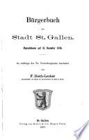 Bürgerbuch der Stadt St. Gallen
