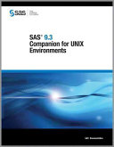 SAS 9 3 Companion for UNIX Environments