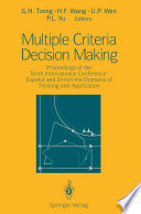 Multiple Criteria Decision Making