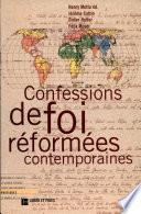 Confessions de foi r  form  es contemporaines
