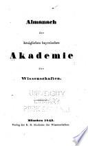 Almanach der Königlichen Bayerischen Akademie der Wissenschaften