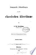 Gesammelte Abhandlungen aus dem classischen Alterthume