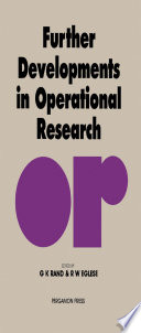 Further Developments in Operational Research