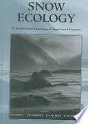 Snow Ecology Book To Integrate The Study Of