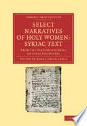 Select Narratives of Holy Women: Syriac Text