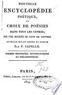 Nouvelle Encyclopédie poétique ou choix de poésies dans tous les genres