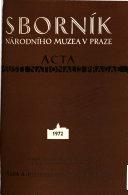 Sborník Národního Muzea v Praze