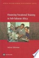 Financing Vocational Training In Sub Saharan Africa