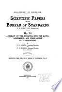 Scientific Papers of the Bureau of Standards