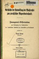 Geschichte der Entwicklung des Wahlrechts zum preusstschen Abgeordnetenhause