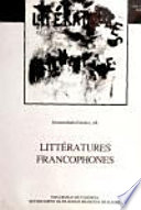 Litt  ratures francophones