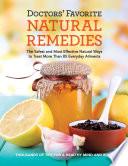 Doctors' Favorite Natural Remedies