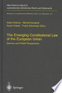 The Emerging Constitutional Law of the European Union
