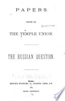 Papers Issued By The Temple Union
