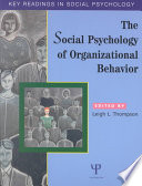 The Social Psychology of Organizational Behavior