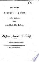 Preußens Neutralitäts-System