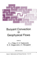 Buoyant Convection in Geophysical Flows