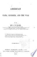 American States Churches And The War