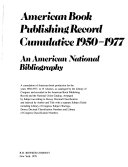 American Book Publishing Record Cumulative 1950-1977