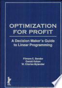 Optimization for Profit