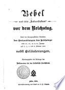 """Bebel und sein """"Zukunftsstaat"""" vor dem Reichstag"""