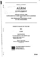 American law reports  ALR 3d  Cases and annotations
