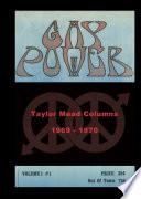 GAY POWER Taylor Mead Columns 1969   1970