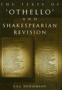 The Texts of Othello and Shakespearian Revision