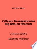 illustration du livre L'éthique des mégadonnées (Big Data) en recherche