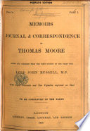 Memoirs  Journal and Correspondence  Edited and abridged from the first edition by     Lord John Russell Book PDF