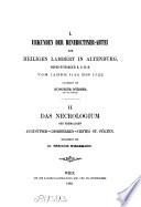 Urkunden der Benedictiner-Abtei zum Heiligen Lambert in Altenburg, Nieder-Österreich K. O. M. B.