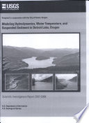 Modeling hydrodynamics  water temperature  and suspended sediment in Detroit Lake  Oregon